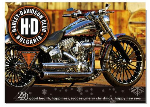 Harley Davidson Christmas Card 2020